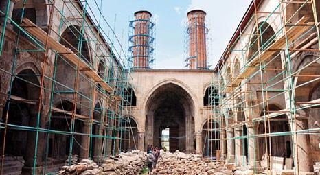 Erzurum'daki Çifte Minareli Medrese, yanlış restorasyondan kurtarılıyor!