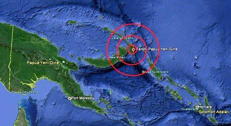 Papua Yeni Gine'de 7.2 büyüklüğünde deprem yaşandı!