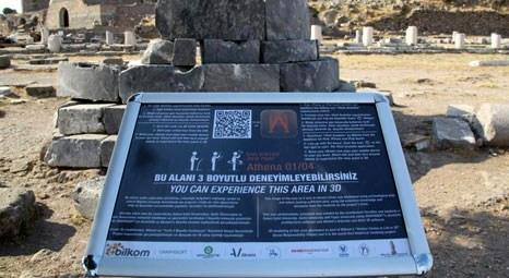 Zeus Sunağı, Athena Tapınağı, Kızıl Avlu ve Asklepion, tablet bilgisayar ile geziliyor!