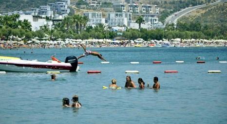 Bodrum Gümbet Plajı sahili yabancı turistlere kaldı!