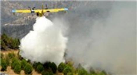 Balıkesir Kepsut'ta çıkan yangında söndürme çalışmaları devam ediyor!