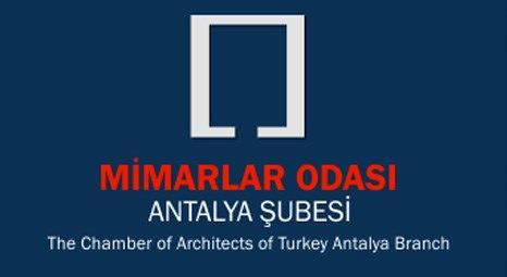 Mimarlar Odası Antalya Şubesi'nde böcek araması yapıldı!