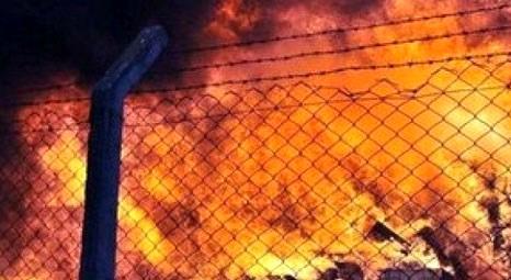 Alanya'da çıkan yangında 4 ev ve yaklaşık 30 hektarlık alan zarar gördü!
