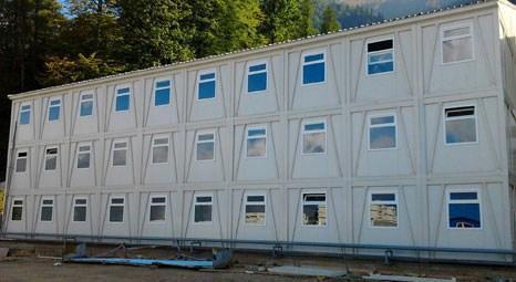 Kazakistan'da Vekon'un katlanır yaşam konteynerleri büyük ilgi gördü!