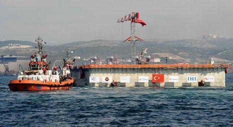 STFA, İzmit Körfez Geçişi için her biri 25 bin ton ağırlığındaki 2 keson yüzdürdü!