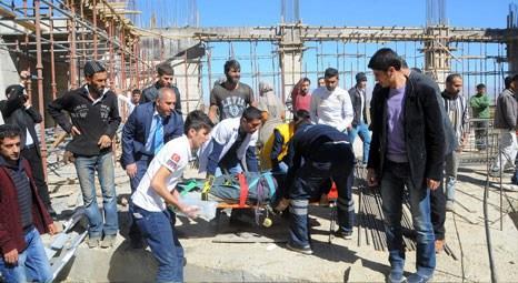 Muş Alparslan Üniversitesi kültür merkezi inşaatı çöktü, 8 işçi yaralandı!