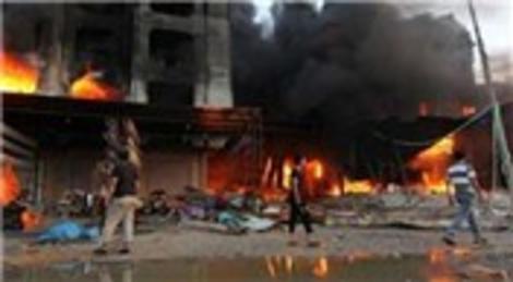 Libya'da Mısır Halı Çarşısı'nda yangın çıktı