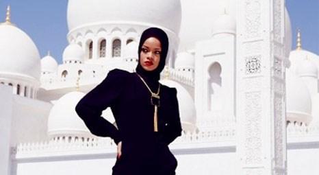 Rihanna Abu Dabi'ye konsere gitti, cami ziyaret etti