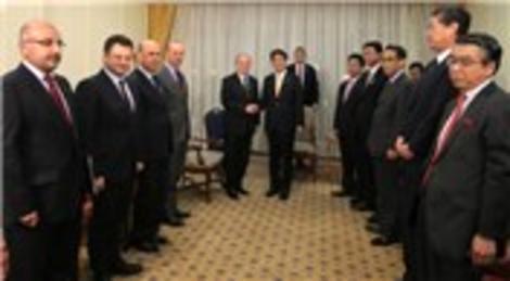 Kadir Topbaş Shinzo Abe  ile Marmaray'ı konuştu