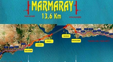 Marmaray hattı güzergah haritası