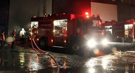 Samsun Tekkeköy'deki kağıt fabrikasında yangın çıktı