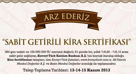 Kuveyt Türk kira sertifikası ihraç ediyor