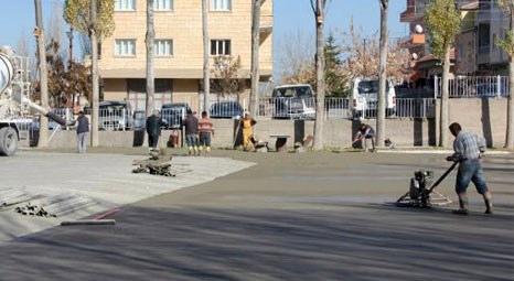 Nevşehir'de okullara bahçe düzenlemesi çalışmaları sürüyor