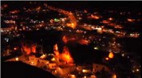 Kapadokya, yeni ışıklandırma sistemiyle beğeni topluyor
