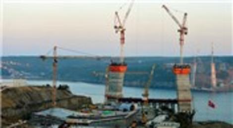 3. Boğaz Köprüsü'nde çalışmalar hızla devam ediyor