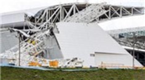 Brezilya'da inşaat halindeki stadyum çöktü