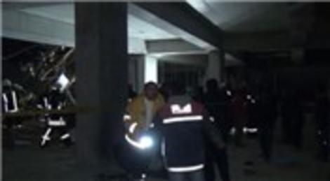 Konya'da stadyum inşaat iskelesinin çökmesi sonucunda 5 kişi yaralandı
