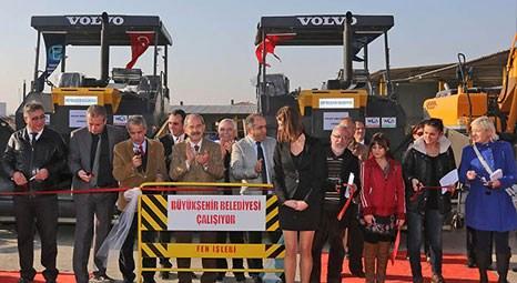 Eskişehir Büyükşehir Belediyesi'nin 25 yeni iş makinesi hizmete girdi