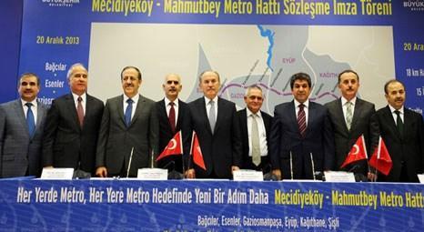Kadir Topbaş, Mecidiyeköy-Mahmutbey metrosunun imzasını attı