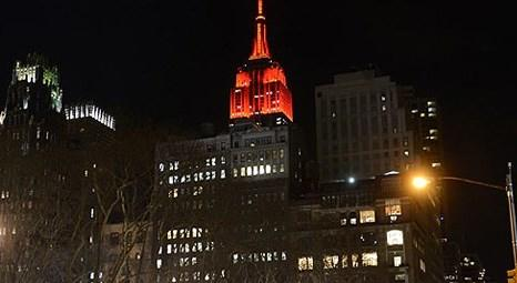 New York Empire State gökdeleni yılbaşına hazır