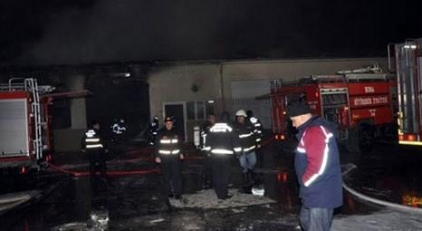Bursa Karayolları Müdürlüğü deposunda yangın çıktı