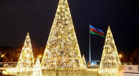 Azerbaycan'ın başkenti Bakü, yeni yıla rengarenk girecek