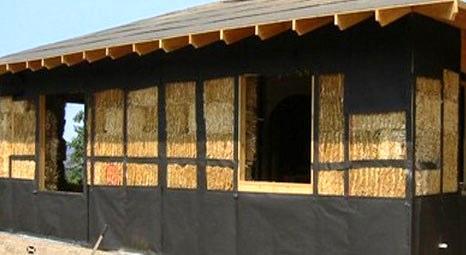 Kütahya'daki saman ev, kışın sıcak yazın serin oluyor