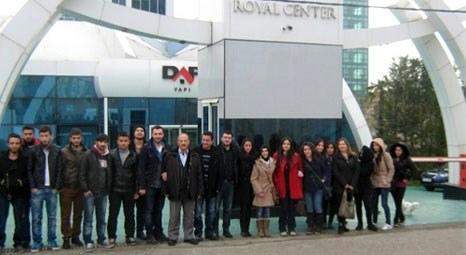 DAP Yapı, Kütahya Dumlupınar Üniversitesi emlak bölümü öğrencilerini ağırladı