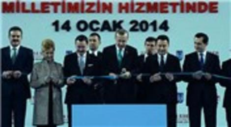 Recep Tayyip Erdoğan, Ankara'da 214 eseri toplu açılış töreniyle hizmete açtı