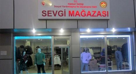 Hakkari'de açılan Sevgi Mağazası dar gelirli ailelere alışveriş imkanı sunuyor