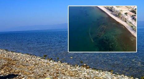 İznik Gölü'nün dibindeki tarihi kilise kuraklıkla ortaya çıktı