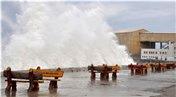 Kastamonu'da etkili olan fırtına nedeniyle istinat duvarı hasar gördü