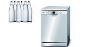 Bosh ile 6 şişe suyla bir makine dolusu bulaşık yıkamak mümkün oluyor