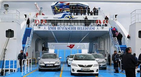 İzmir'de Mavi Körfez arabalı vapur ilk seferini gerçekleştirdi