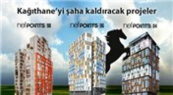 Nef'ten Kağıthane'ye Points markalı 4 yeni proje