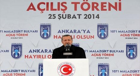 1071 Malazgirt Bulvarı Recep Tayyip Erdoğan'ın katılımıyla bugün açıldı