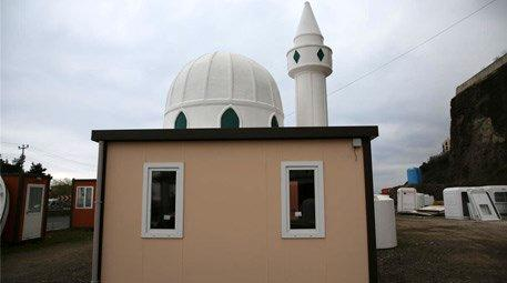 Trabzon'da seyyar cami yapıldı