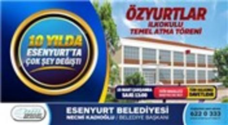 Necmi Kadıoğlu Esenyurt'ta Özyurtlar İlkokulu'nun temelini atacak