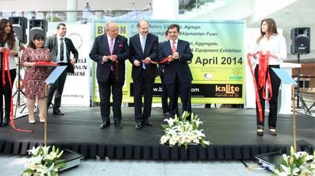 Beton Ankara 2014 Fuarı İdris Güllüce'nin katılımıyla açıldı