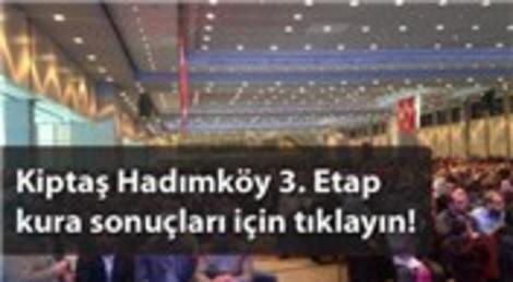 Kiptaş Hadımköy 3. Etap kura sonuç listesi yayında