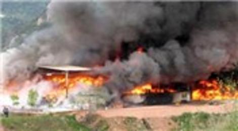 Bursa Çimento Fabrikası'nda çıkan yangın korkuttu