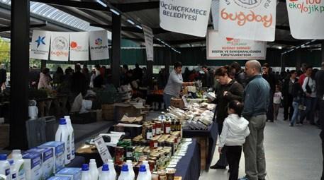 Küçükçekmece'de yüzde 100 ekolojik pazar açıldı