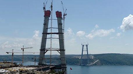 3. Boğaz Köprüsü'nün inşaatında büyük aşama kaydedildi