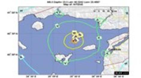 Ege Denizi'ndeki depremin ardından 20 artçı deprem meydana geldi