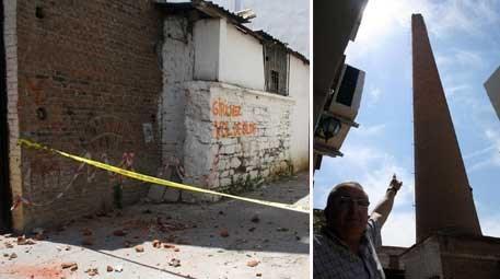 Ege'deki deprem el işiyle yapılan bacaya zarar verdi!