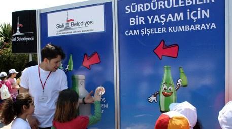Şişli'de öğrenciler 2 bin cam şişeyi geri dönüşüme kazandırdı
