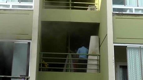 Konya'da apartman dairesinde yangın çıktı