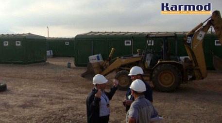 Karmod Prefabrik Eritre'de kabinden şantiye kurdu