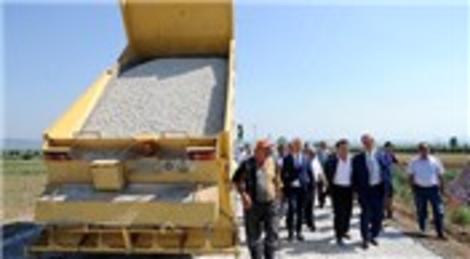 Bursa Yenişehir'de asfaltlama çalışmaları başladı