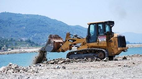 Ordu Havalimanı için denize 29 milyon ton taş döküldü